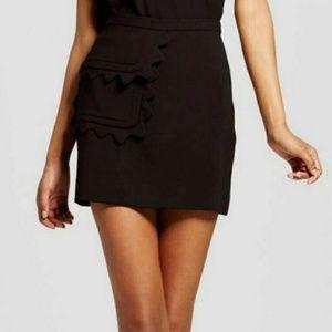 NWT Victoria Beckham Target Scallop Pocket Skirt